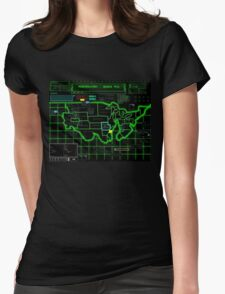 Map of Future America: 3023 A.D. Womens Fitted T-Shirt