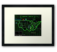 Map of Future America: 3023 A.D. Framed Print