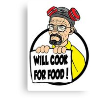 Will Cook For Food Canvas Print