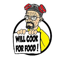Will Cook For Food Photographic Print