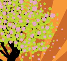Beautiful sakura and bench 3 Sticker