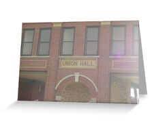 Old Union Hall Greeting Card