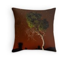 Treepainting at night Throw Pillow