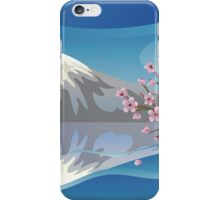 Branch of Sakura and Volcano iPhone Case/Skin