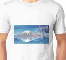 Branch of Sakura and Volcano Unisex T-Shirt