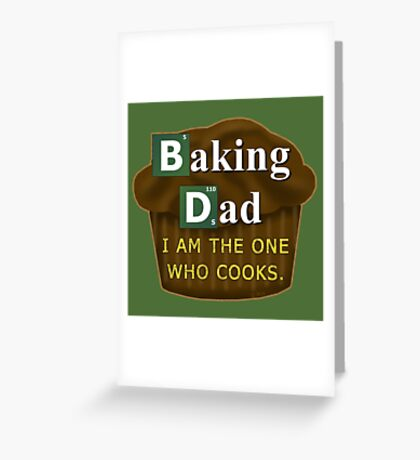 Funny Dad Who Bakes or Cooks Spoof Parody Greeting Card