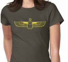 Gold Scarab Womens Fitted T-Shirt