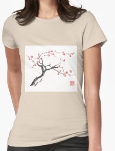 New hope sumi-e painting Womens Fitted T-Shirt