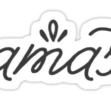 Namaste grey Sticker