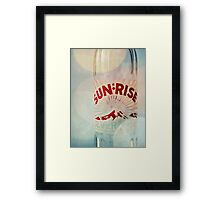 sunrise. Framed Print