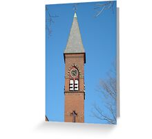 The First Congregational Church Gardner MA Steeple Greeting Card