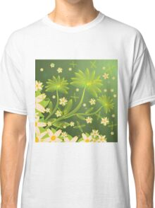 Green floral background Classic T-Shirt