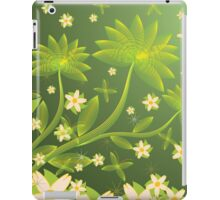 Green floral background iPad Case/Skin