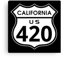 California 420 Day US Highway Sign Canvas Print