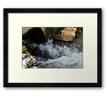 Water rushing Through  Framed Print