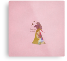 Once Upon A Dream - Aurora Sleeping Beauty - Disney Inspired Metal Print