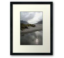 Reflective Plains Framed Print