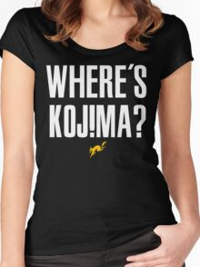Where's Kojima? Women's Fitted Scoop T-Shirt