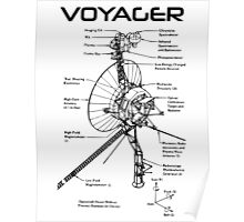 Voyager Program - Black Ink Poster