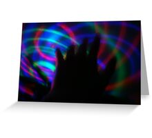 Light in Movement 3 Greeting Card
