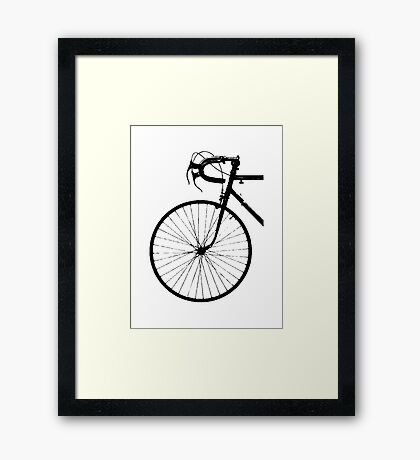 Crescent Bike Black Framed Print