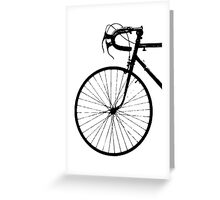 Crescent Bike Black Greeting Card