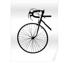 Crescent Bike Black Poster
