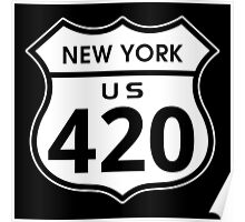 New York 420 Day US Highway Sign Poster