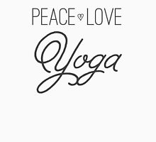 Peace, Love, Yoga- Grey Unisex T-Shirt