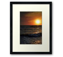 Sunset In The Tall Framed Print