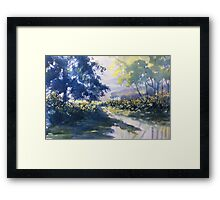 """Strensall Common"" - demo painting Framed Print"