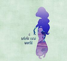 """A Whole New World"" - Jasmine - Aladdin - Disney Inspired by still-burning"