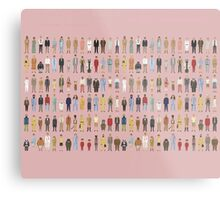 The Characters of Wes Anderson Metal Print