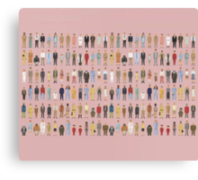 The Characters of Wes Anderson Canvas Print