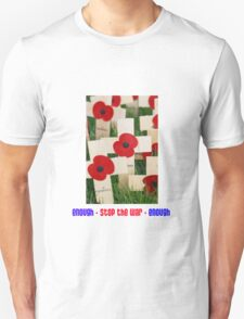 Enough Stop The War Enough Poppy Design T-Shirt