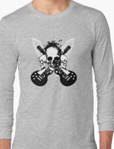 Skull and Guitars Long Sleeve T-Shirt