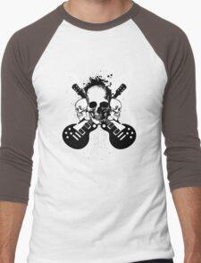 Skull and Guitars Men's Baseball ¾ T-Shirt