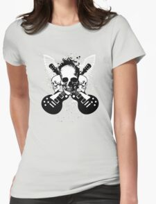 Skull and Guitars Womens Fitted T-Shirt