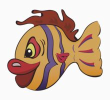 Smiling cartoon fish Kids Clothes
