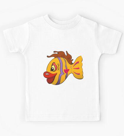 Smiling cartoon fish Kids Tee
