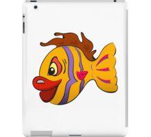 Smiling cartoon fish iPad Case/Skin