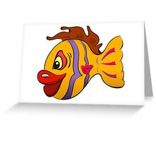 Smiling cartoon fish Greeting Card