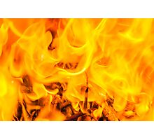 Fire and flames Photographic Print