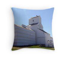 Inglis Grain Elevators Throw Pillow