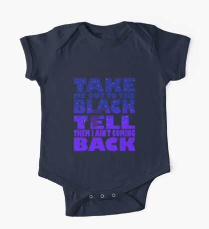 Take Me Out To The Black One Piece - Short Sleeve