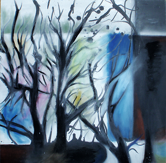 Mondrian Trees I by BlackEel