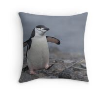Chinstrap Penguin Throw Pillow