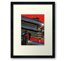 Chrome And Red With A Hint Of Rust Framed Print