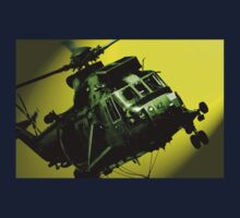 Sea King commando helicopter in action  Kids Tee