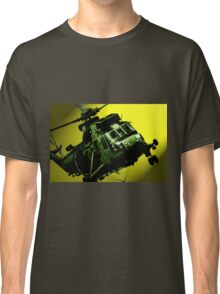 Sea King commando helicopter in action  Classic T-Shirt